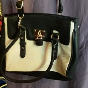 Black/cream cross body
